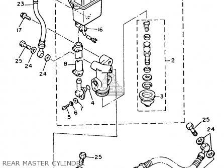 Yamaha Xvz12tdk Venture Royale 1983 Rear Master Cylinder