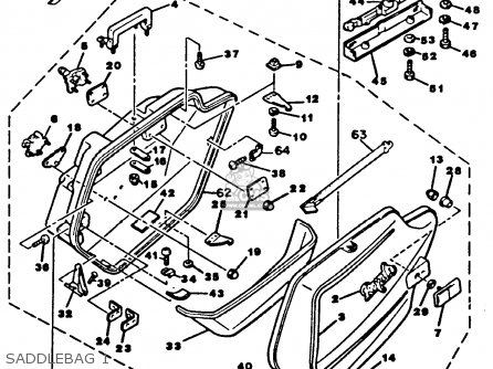 Yamaha Xvz12tdk Venture Royale 1983 Saddlebag 1