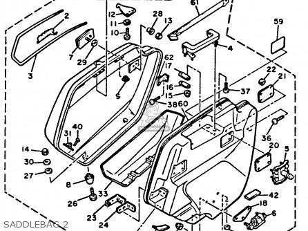 Yamaha Xvz12tdk Venture Royale 1983 Saddlebag 2