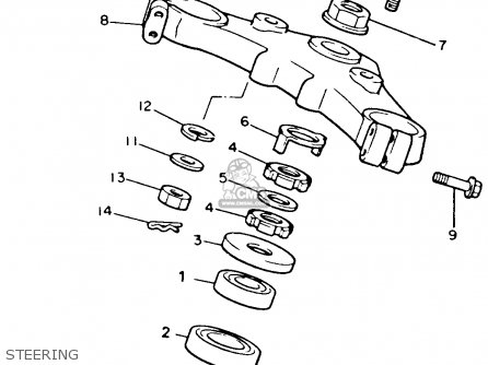 Yamaha Xvz12tdk Venture Royale 1983 Steering