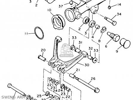 Yamaha Xvz12tdk Venture Royale 1983 Swing Arm