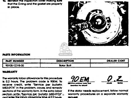 Yamaha Xvz12tdk Venture Royale 1983   Technical Bulletin Pg   4