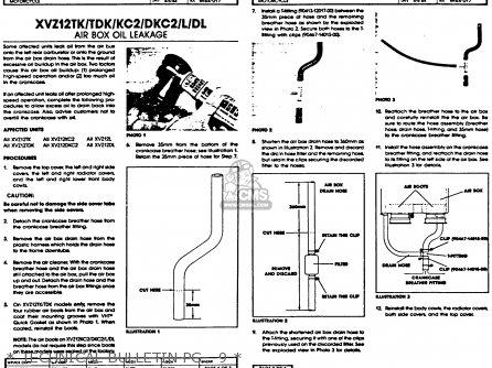 Yamaha Xvz12tdk Venture Royale 1983   Technical Bulletin Pg   9