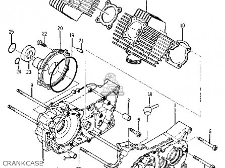Yamaha Ya6 1966 Crankcase