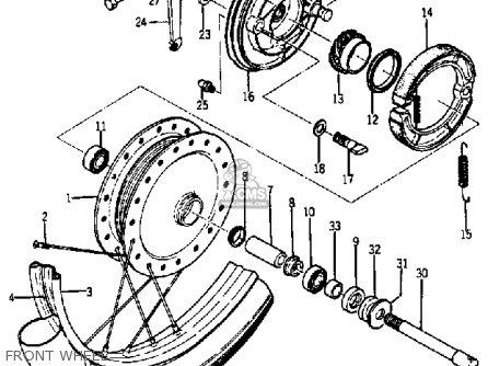 Yamaha Ya6 1966 Front Wheel