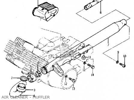 Yamaha Ya6 1966 Usa Air Cleaner - Muffler