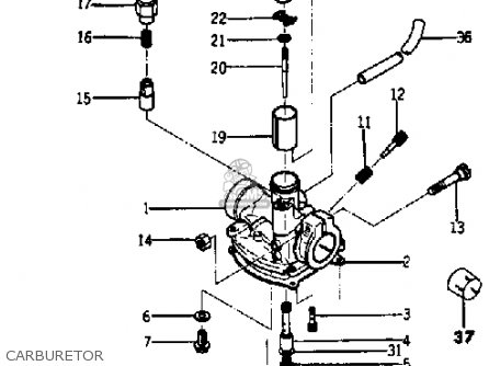 Yamaha Ya6 1966 Usa Carburetor