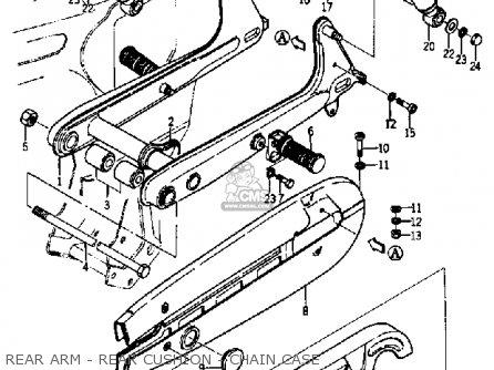 Yamaha Ya6 1966 Usa Rear Arm - Rear Cushion - Chain Case