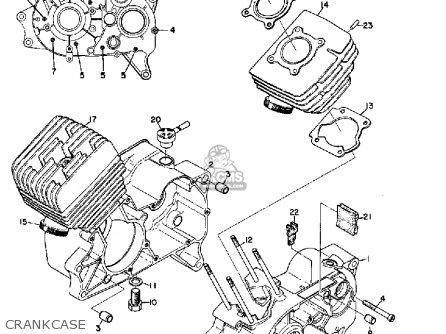 Yamaha Yas1c 1968 California Crankcase