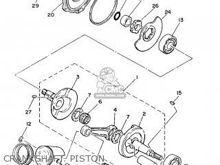 Yamaha Yb100 1987 18n England 2718n-310e1 Crankshaft  Piston