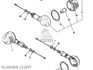 Yamaha Yb100 1987 18n England 2718n-310e1 Flasher Light
