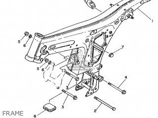 Yamaha Yb100 1987 18n England 2718n-310e1 Frame