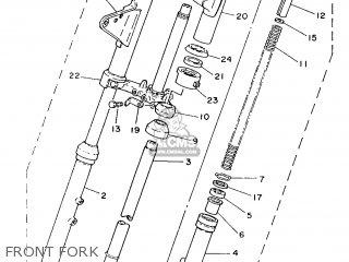 Yamaha Yb100 1987 18n England 2718n-310e1 Front Fork