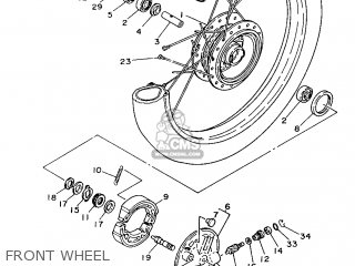 Yamaha Yb100 1987 18n England 2718n-310e1 Front Wheel