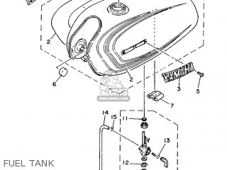 Yamaha Yb100 1987 18n England 2718n-310e1 Fuel Tank