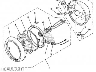 Yamaha Yb100 1987 18n England 2718n-310e1 Headlight