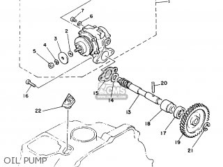 Yamaha Yb100 1987 18n England 2718n-310e1 Oil Pump