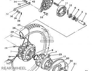 Yamaha Yb100 1987 18n England 2718n-310e1 Rear Wheel
