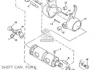 Yamaha Yb100 1987 18n England 2718n-310e1 Shift Cam  Fork