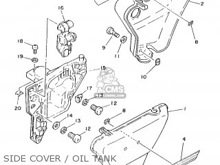 Yamaha Yb100 1987 18n England 2718n-310e1 Side Cover   Oil Tank