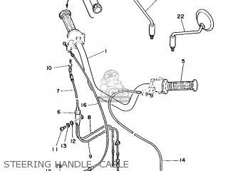 Yamaha Yb100 1987 18n England 2718n-310e1 Steering Handle  Cable