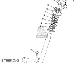 Yamaha Yb100 1987 18n England 2718n-310e1 Steering