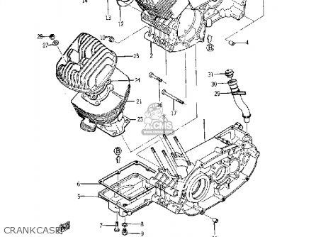 Yamaha Yds5 1967 Crankcase