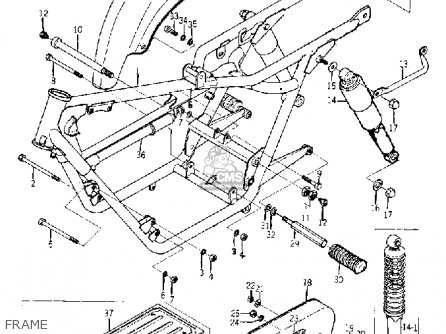 Yamaha Yds5 1967 Frame