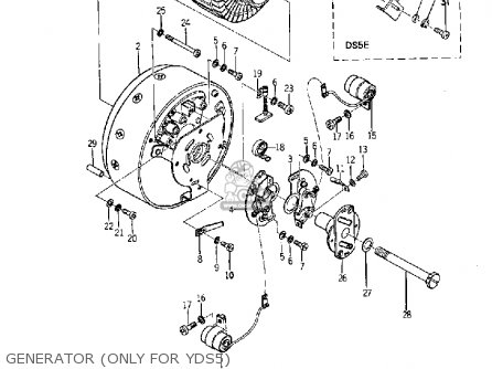 Yamaha Yds5 1967 Usa Generator only For Yds5