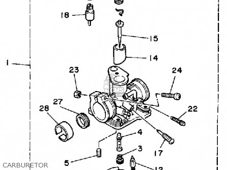 Yamaha Yf60s 1986 Moto-4 Usa Carburetor