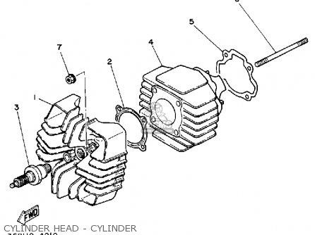 Yamaha Yf60s 1986 Moto-4 Usa Cylinder Head - Cylinder