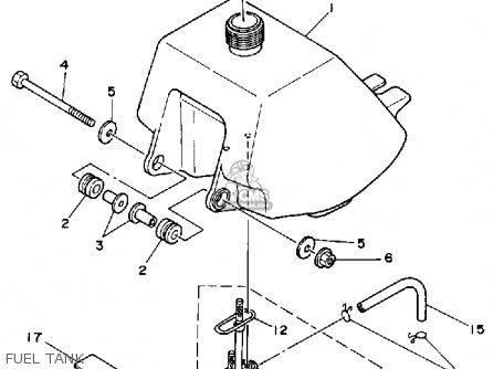 Yamaha Yf60s 1986 Moto-4 Usa Fuel Tank