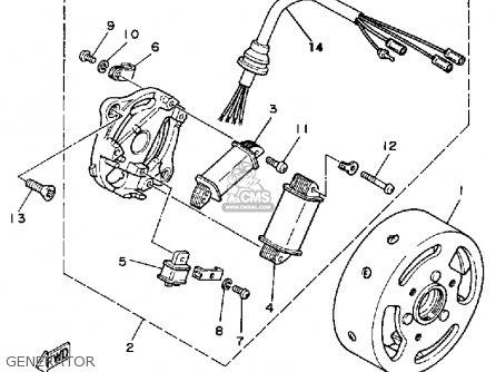 Yamaha Yf60s 1986 Moto-4 Usa Generator
