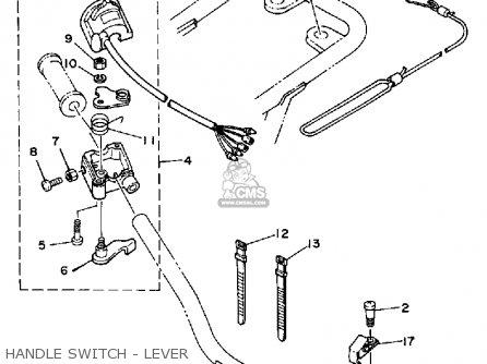 Yamaha Yf60s 1986 Moto-4 Usa Handle Switch - Lever