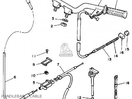 Yamaha Yf60s 1986 Moto-4 Usa Handlebar - Cable
