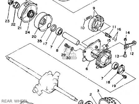 Yamaha Yf60s 1986 Moto-4 Usa Rear Wheel