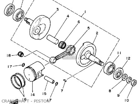 Yamaha Yf60s Moto-4 1986 Crankshaft - Piston