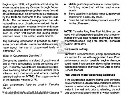Yamaha Yfa1h 1996   Technical Bulletin Pg   2