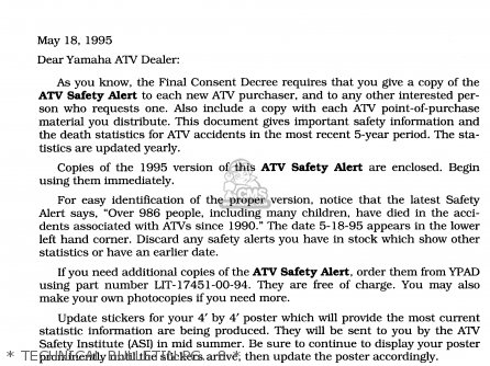 Yamaha Yfa1h 1996   Technical Bulletin Pg   8
