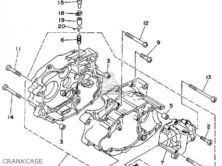 Yamaha    Yfb250d    Timberwolf    1992 parts list partsmanual partsfiche