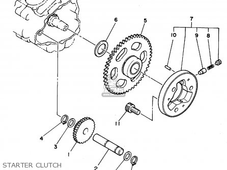 Yamaha Yfb250g maine  New Hampshire 1995 Starter Clutch