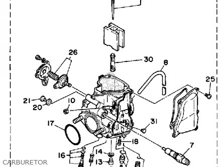 Yamaha Yfm350erw Moto 4 1989 Parts Lists And Schematics