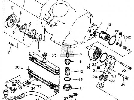 Diagram Of Yamaha Atv Parts 1989 Moto4 Yfm350erw Handlebar Cable