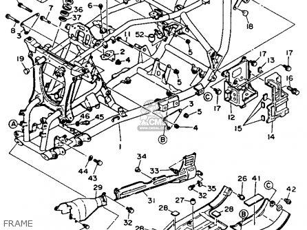 Yamaha Yfm350fwe Maine New Hampshire 1993 Parts Lists And Schematics
