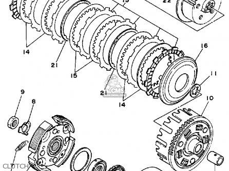 yamaha yfm350fww 1989 big bear parts lists and schematics