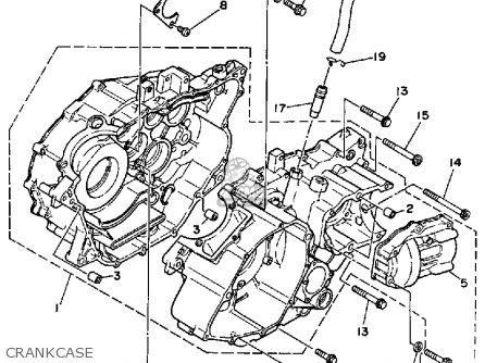 Yamaha Yfm350fww 1989 Big Bear Crankcase