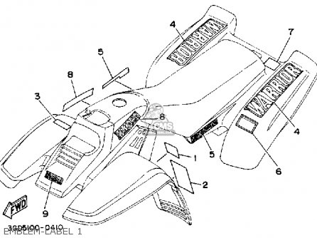 Diagram Of 1990 Warrior Yfm350xa Yamaha Atv Electrical 1 Diagram And