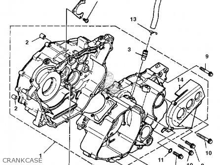 Yamaha Yfm350xt 1987 Crankcase
