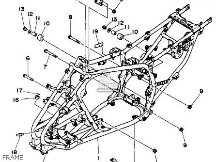Yamaha Yfm350xt 1987 Frame