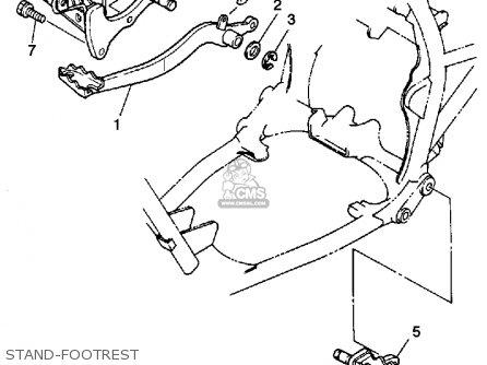 Yamaha Yfm350xt 1987 Stand-footrest